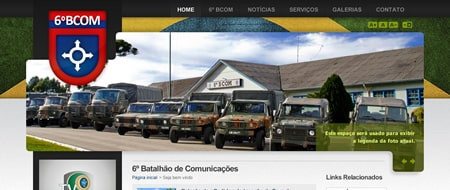 Site criado para 6º Batalhão de Comunicações de Bento Gonçalves