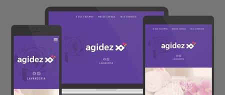Design Responsivo criado para Agidez Lavanderia