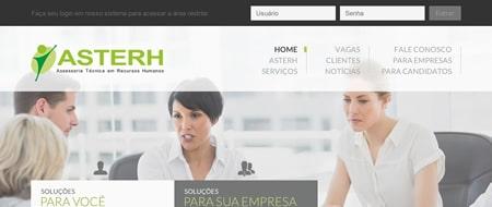 Site criado para Asterh - Assessoria em Recursos Humanos