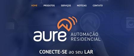 Site criado para Aure Automação