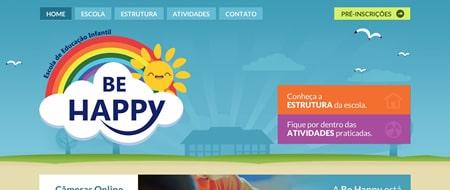 Site criado para Be Happy Escola Infantil