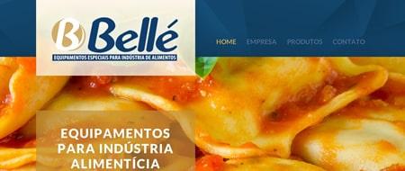 Site criado para Bellé Máquinas para Alimentos