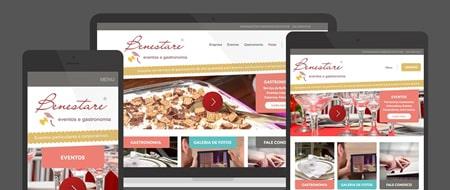 Design Responsivo criado para Benestare Eventos e Gastronomia
