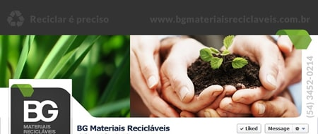 Material criado para BG Materiais Recicláveis