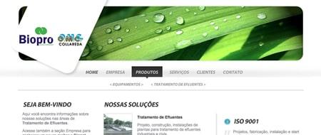 Site criado para Biopró