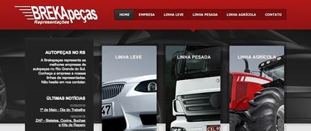 Site criado para Brekapeças Representações