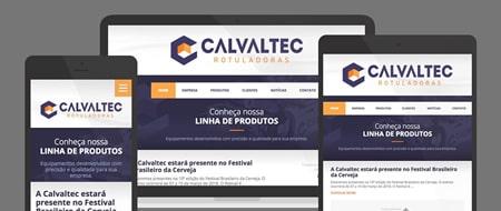 Design Responsivo criado para Calvaltec Rotuladoras