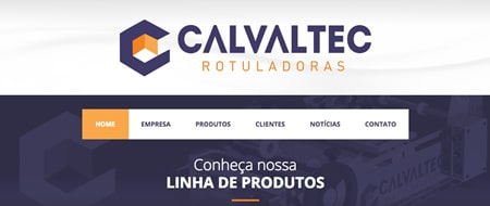 Site criado para Calvaltec Rotuladoras