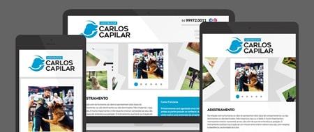 Design Responsivo criado para Adestrador Carlos Capilar