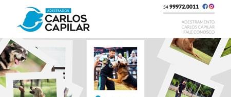 Site criado para Adestrador Carlos Capilar
