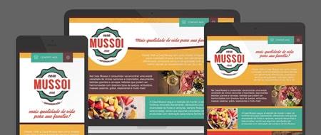 Design Responsivo criado para Casa Mussoi Supermercado