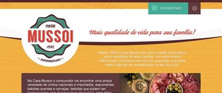 Site criado para Casa Mussoi Supermercado