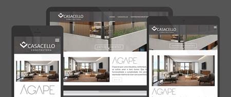 Design Responsivo criado para Construtora Casacello