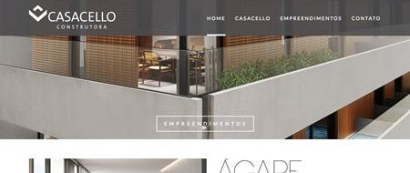Site criado para Construtora Casacello