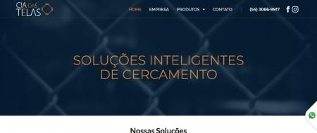Site criado para Cia das Telas