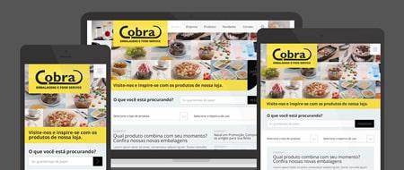 Design Responsivo criado para Cobra Embalagens e Food Service