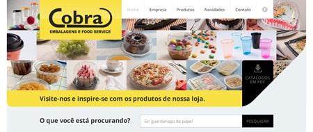 Site criado para Cobra Embalagens e Food Service