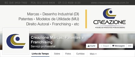 Material criado para Creazione Marcas, Patentes e Franchising