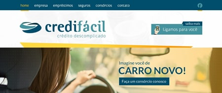 Site criado para Credifácil - Crédito Descomplicado