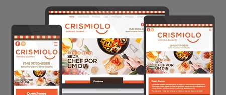 Design Responsivo criado para Crismiolo Empório Gourmet