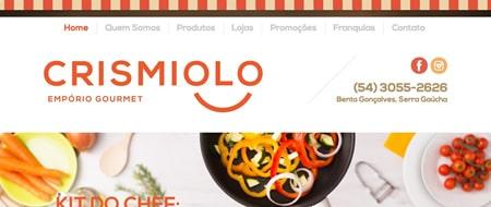 Site criado para Crismiolo Empório Gourmet