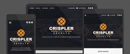 Design Responsivo criado para Crispler Escolta