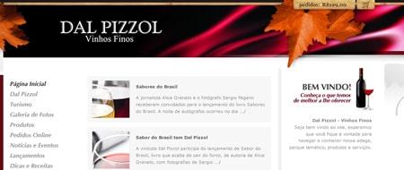 Site criado para Dal Pizzol Vinhos Finos