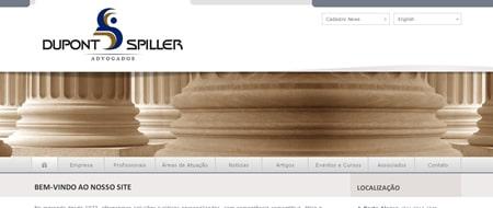 Site criado para Dupont Spiller Advogados