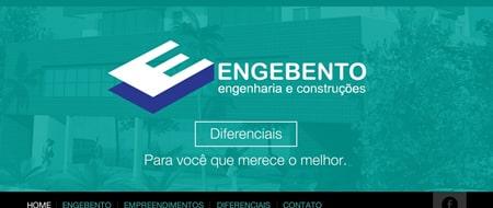 Site criado para Engebento Engenharia e Construções