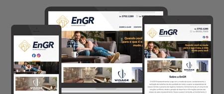 Design Responsivo criado para Construtora EnGR