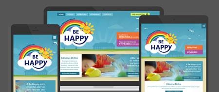 Design Responsivo criado para Be Happy Escola Infantil