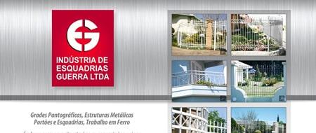 Site criado para Esquadrias Guerra
