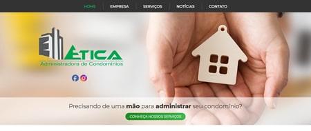 Site criado para Ética Administradora de Condomínios