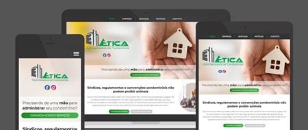 Design Responsivo criado para Ética Administradora de Condomínios
