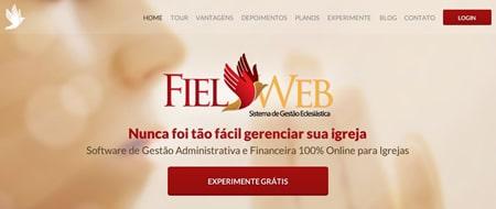 Site criado para Fiel Web
