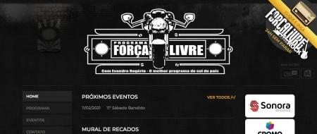 Site criado para Programa Força Livre