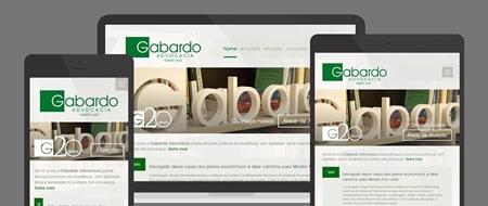 Design Responsivo criado para Gabardo Advocacia