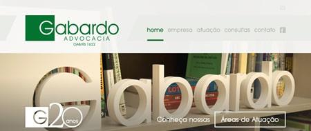 Site criado para Gabardo Advocacia