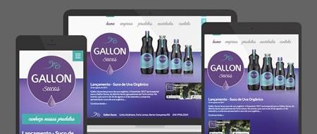 Design Responsivo criado para Gallon Sucos