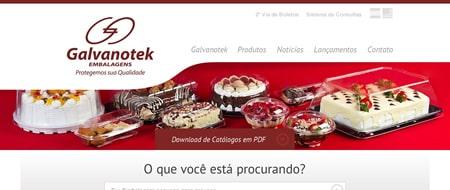 Site criado para Galvanotek Embalagens