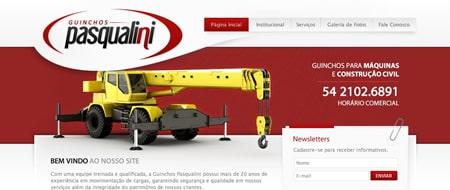 Site criado para Guinchos Pasqualini