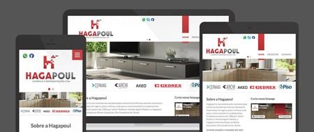 Design Responsivo criado para Hagapoul Representações