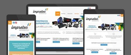 Design Responsivo criado para Impretec Informática