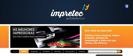 Site criado para Impretec