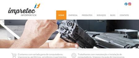 Site criado para Impretec Informática