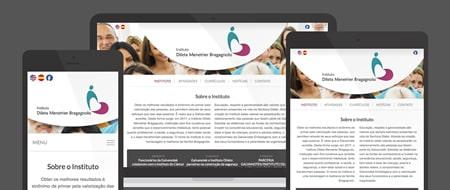 Design Responsivo criado para Instituto Dileta