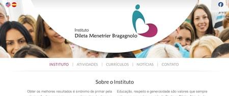 Site criado para Instituto Dileta