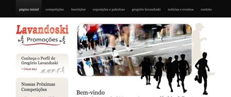 Site criado para Lavandoski Promoções