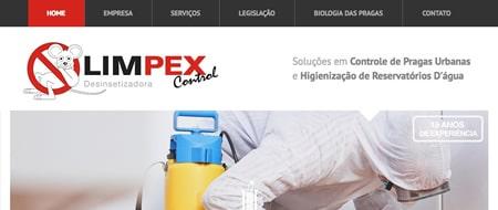 Site criado para Limpex Control Desinsetizadora