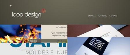 Site criado para Loop Design